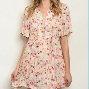 $10 MOVING SALE! FLORAL ANTHROPOLOGIE MINI DRESS